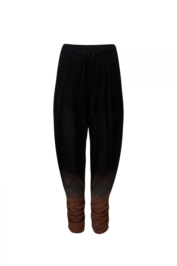 Missoni Women's Ombré Harem Pants Black - New W21 Collection