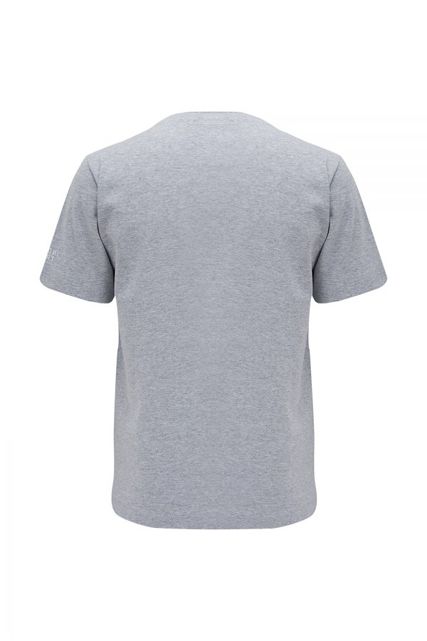 Missoni Sport Men's Zigzag Print T-shirt Light Grey - New W21 Collection
