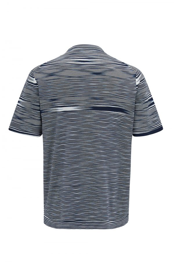 Missoni Men's Space-dyed Knitted Top Navy - New W21 Collection