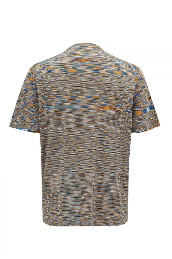 Missoni Men's Space-dyed Knitted T-shirt Multicoloured - New W21 Collection