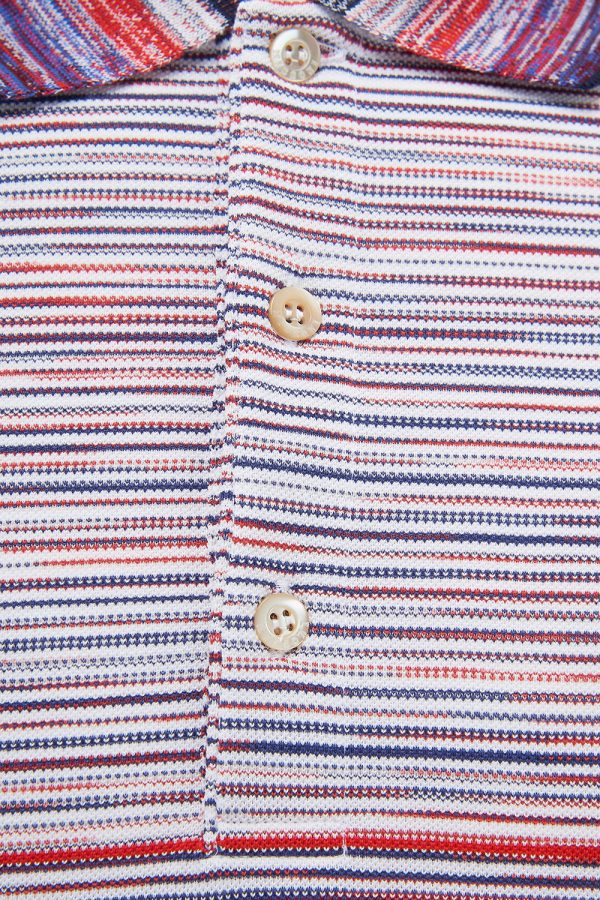 Missoni Men's Space-dyed Stripe Polo Shirt Multicoloured - New W21 Collection