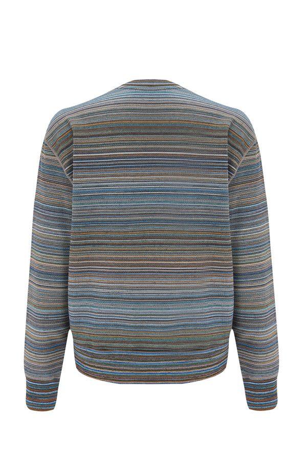 Missoni Men's Striped Cotton Sweatshirt Green - New W21 Collection
