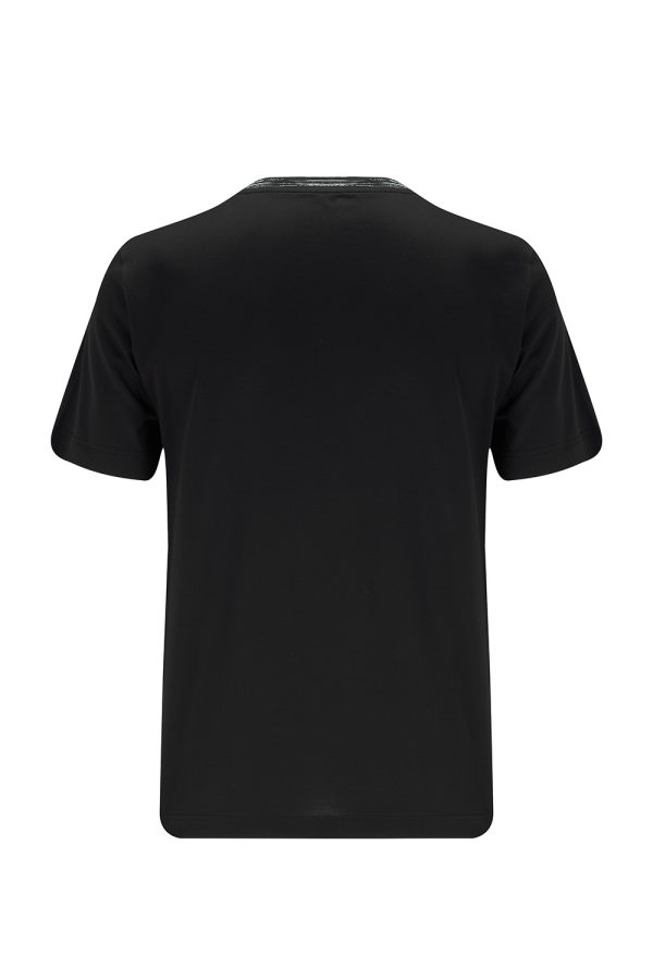 Missoni Men's Contrast-collar T-shirt Black - New W21 Collection