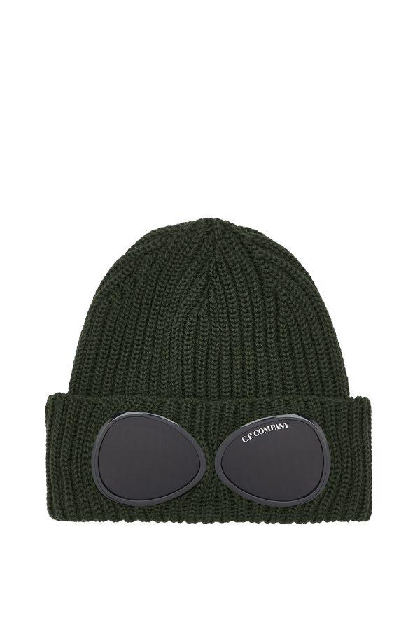 C.P. Company Men's Lens Beanie Hat Khaki - New W21 Collection