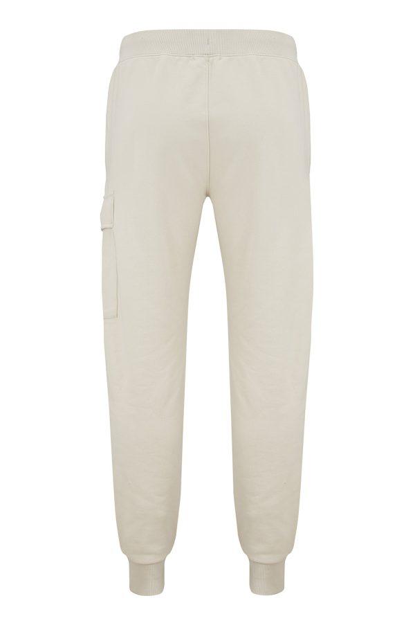 C.P. Company Men's Cotton Sweat Pants Ivory - New W21 Collection