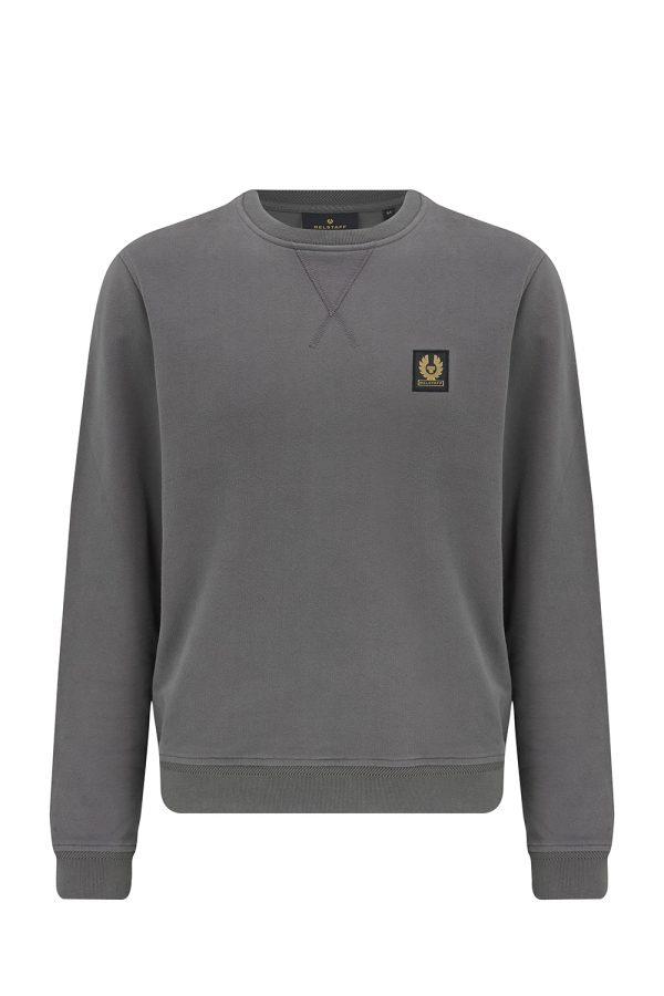 Belstaff Men's Cotton Fleece Sweatshirt Grey - New W21 Collection