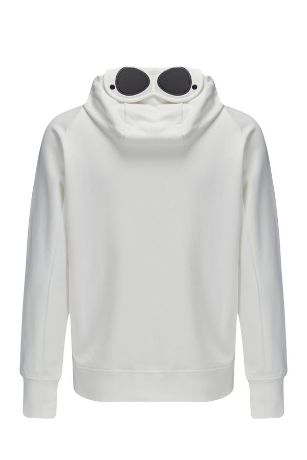C.P. Company Men's Zip-front Lens Hoodie White - New W21 Collection